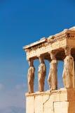 Zamknięty widok Erechtheion w lecie, Ateny Obrazy Stock