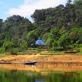 Zamknięty widok od rzeki w Kerala, India zdjęcie stock