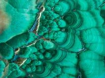 Zamknięty widok Zielony malachit obraz stock