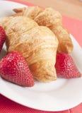 zamknięty zamknięci croissants Zdjęcia Royalty Free