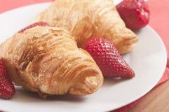 zamknięty zamknięci croissants Fotografia Royalty Free
