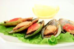 zamknięty zamknięci mussels Obrazy Royalty Free