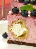 zamknięty zamknięta cheesecake malinka Obrazy Royalty Free