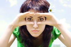 zamknięty zamknięta dziewczyna Fotografia Stock