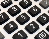 zamknięty zamknięta kalkulator klawiatura Fotografia Stock
