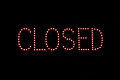 zamknięty znak Zdjęcie Royalty Free