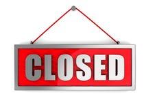 zamknięty znak Zdjęcia Royalty Free