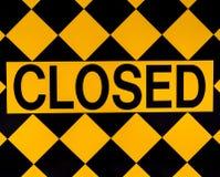 Zamknięty znak Obrazy Stock