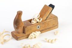 zamkniętych joiners makro- strugarka w górę drewnianego Zdjęcie Royalty Free