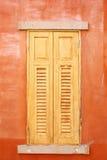 Zamknięci drewniani okno Fotografia Royalty Free