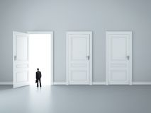 zamknięci drzwi trzy Zdjęcia Stock