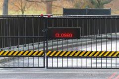 zamknięta brama Zdjęcia Royalty Free