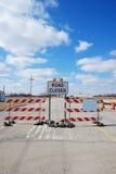 zamknięta droga Zdjęcie Stock