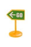 zamknięta drogowego znaka zabawka drogowy Obraz Stock