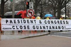 zamknięte demonstracje Guantanamo Fotografia Stock