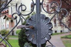 Zamkniętego metalu ogrodowa brama Obraz Royalty Free