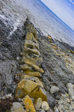 zamkniętego piaska piaskowcowa tekstura Ukraine piaskowcowy izoluje Zdjęcie Stock
