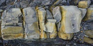 zamkniętego piaska piaskowcowa tekstura Ukraine piaskowcowy izoluje Zdjęcia Royalty Free