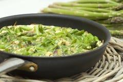 zamknięty asparagusa omelette Fotografia Stock