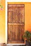 Zamknięty drewniany drzwi Fotografia Royalty Free