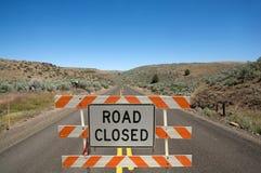 zamknięty drogowy znak Obrazy Stock