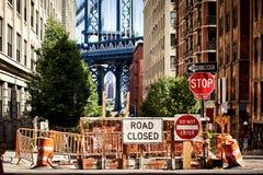 zamknięty drogowy znak Zdjęcie Royalty Free