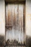zamknięty drzwiowy stary drewniany Fotografia Royalty Free