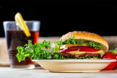 zamknięty hamburger Obraz Royalty Free