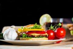 zamknięty hamburger Fotografia Royalty Free