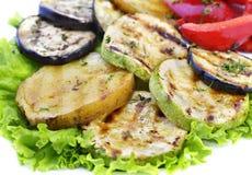 zamknięty jedzenie piec na grillu zdrowie up warzywa Obraz Royalty Free