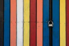 Zamknięty Kolorowy Drewniany drzwi Zdjęcie Royalty Free