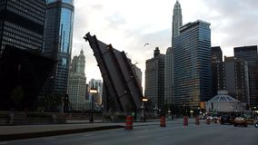 Zamknięty most na State Street Fotografia Royalty Free