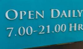 zamknięty otwiera znaka Fotografia Royalty Free