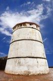 Zamknięty spojrzenie latarnia morska Aguada fort Fotografia Stock
