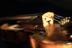 zamknięty stary skrzypce obrazy royalty free