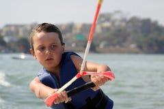 zamknięty wakeboarding Obraz Royalty Free