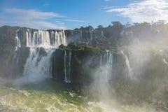 Zamknięty widok jeden Cataratas woda spada Obrazy Royalty Free