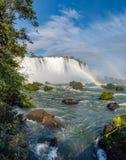 Zamknięty widok jeden Cataratas woda spada Obraz Royalty Free