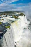 Zamknięty widok jeden Cataratas woda spada Fotografia Royalty Free