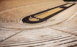 Zamknięty widok Panathenaic stadium w Ateny Zdjęcie Royalty Free