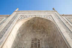 Zamknięty widok Taj Mahal, ind Obrazy Royalty Free