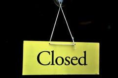 zamknięty znak Zdjęcia Stock