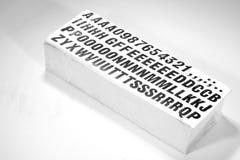zamknij letterpress typu obrazy stock