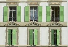 zamknij okno drewnianych zdjęcie royalty free
