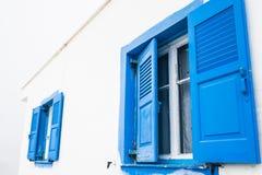 zamknij okno niebieski Obraz Stock