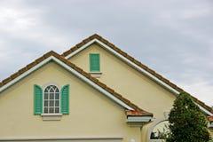 zamknij okno szczegółów linię dachu Fotografia Royalty Free