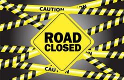 zamknięta droga Zdjęcie Royalty Free