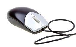 zamkniętego komputeru odosobniona mysz w górę biel Obrazy Stock