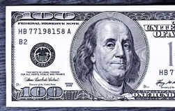 zamknięty 100 zamkniętych dolarów Zdjęcie Royalty Free
