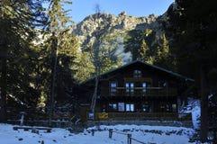 Zamkovskeho chata, Vysoke Tatry, Slovakia. Zamkovsky`s cottage in the Small Cold Valley - High Tatras - Slovakia stock images